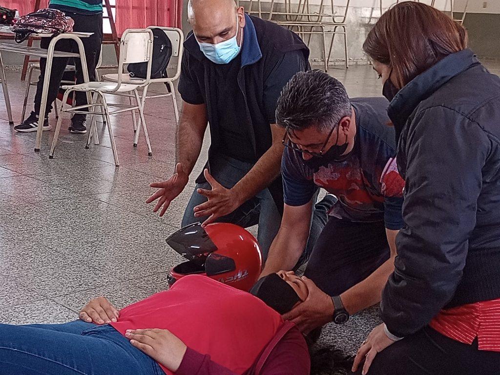 En Sumampa, se capacitó en primeros auxilios y reanimación